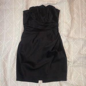 Express size 2 black silky strapless party dress